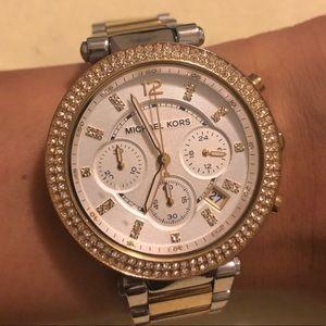 Silver & Gold combo Michael Kors watch